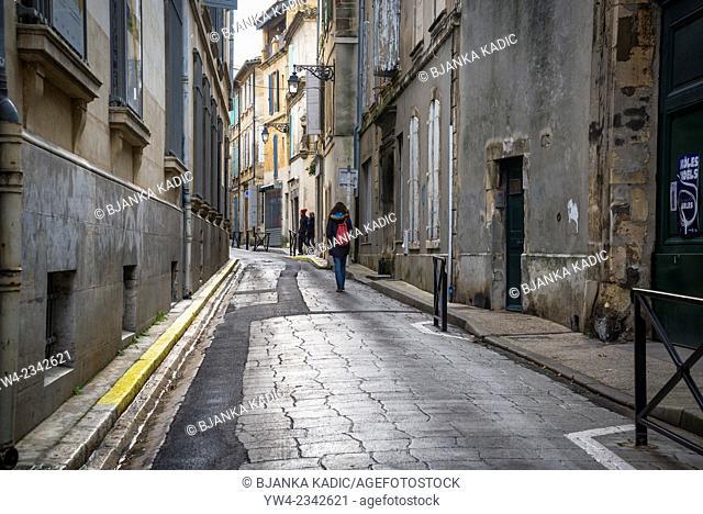 Typical street, Arles, Bouches-du-Rhone, France