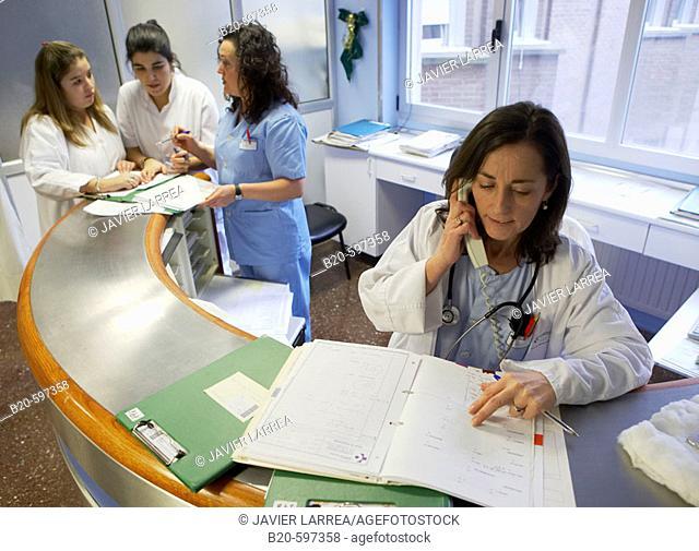 Control desk, DSU (Day Surgery Unit). Hospital de Zumarraga, Gipuzkoa, Euskadi, Spain
