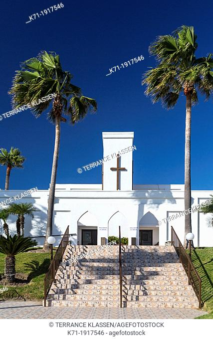The Chapel by the Sea church on South Padre Island, Texas, USA