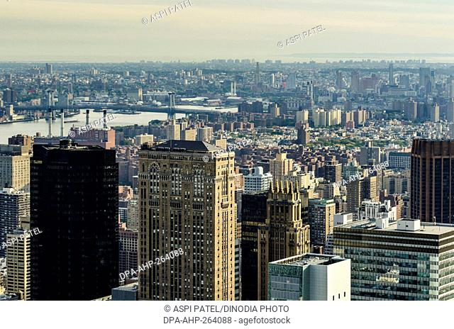 Manhattan, From Rockefeller Tower, New York City, USA