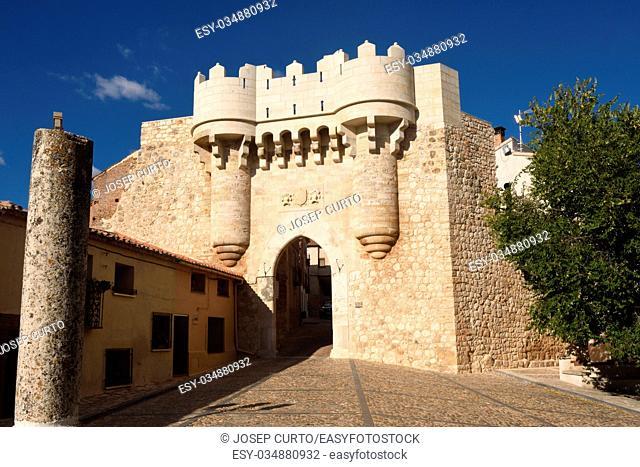 Santa Maria door,Hita, Guadalajara province,Castilla-La Mancha, Spain