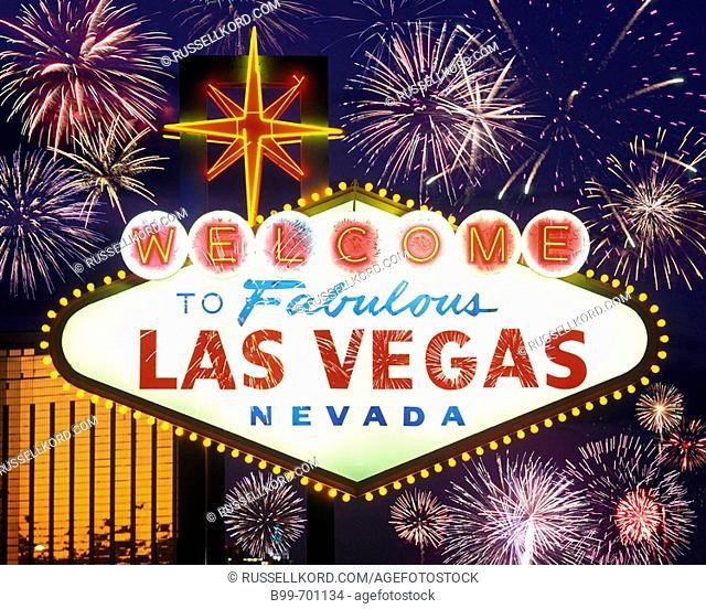 Neon Sign , The Strip, Las Vegas, Nevada, USA