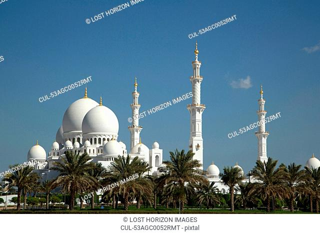 Ornate mosque in Abu Dhabi