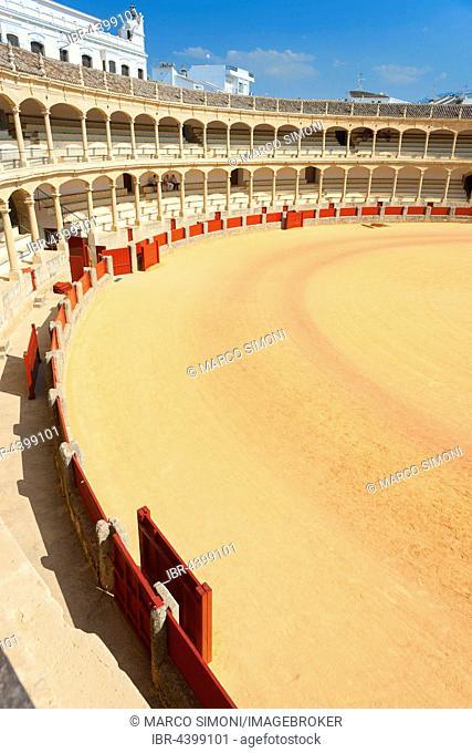 Bullring, Plaza de Toros de Ronda, Ronda, Malaga Province, Andalusia, Spain