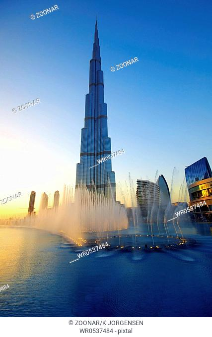 Burj Khalifa fountains