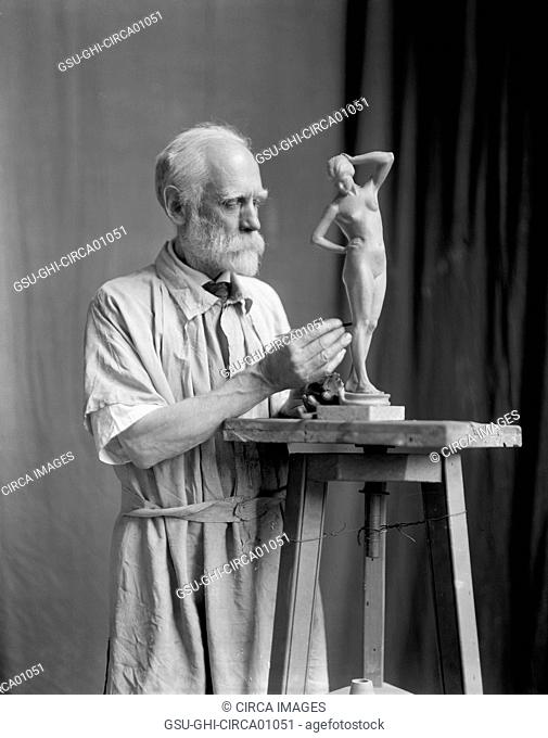 Henry Kirke Bush-Brown, American Sculptor, Portrait, Washington DC, USA, circa 1925