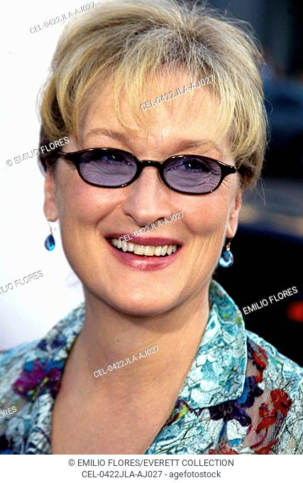Meryl Streep at the premiere of THE MANCHURIAN CANDIDATE, July 22, 2004 in Beverly Hills, CA.  (Photo by J. Emilio Flores/Everett Collection)