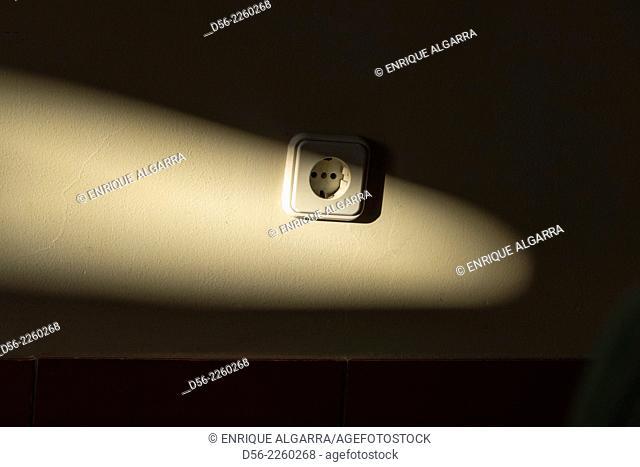 Plug on a wall