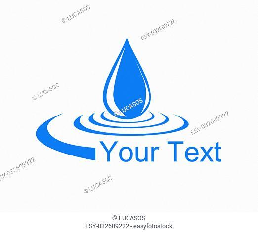 Logo drop of water - vector illustration
