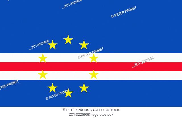 National flag of the Republic of Cape Verde