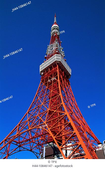 Japan, Asia, Honshu, Tokyo, Asia, Tokyo Tower, Tourism, Travel, Holiday, Vacation, October 2007, City, Town, architect