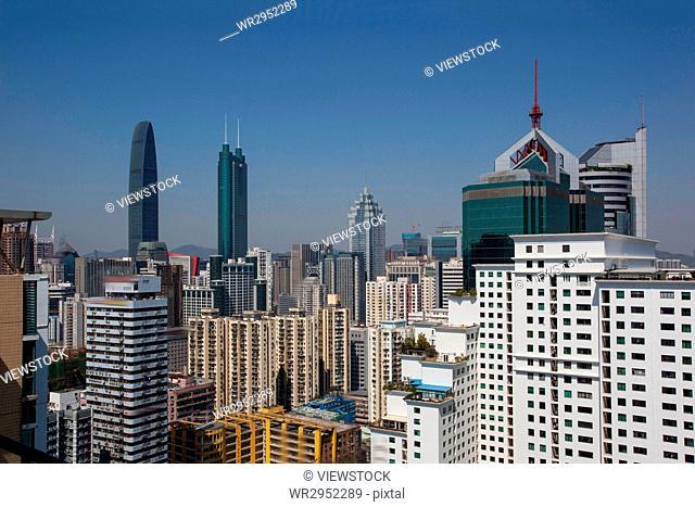 Cityscape of Shenzhen City,Guangdong Province,China