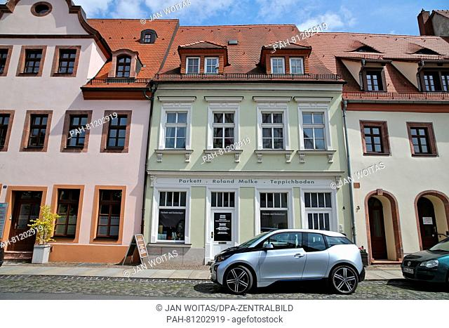 An electrically powered BMWi3 in Grimma(Saxony), Germany, 20 May 2016. The vehicle is powered with a 125 kilowatt electric motor and optionally also with a...