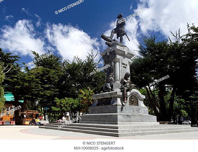 Statue of Fernando de Magellanes, Punta Arenas, Chile, South America