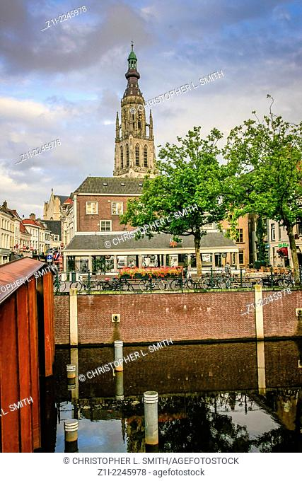 View of Breda town centre Holland