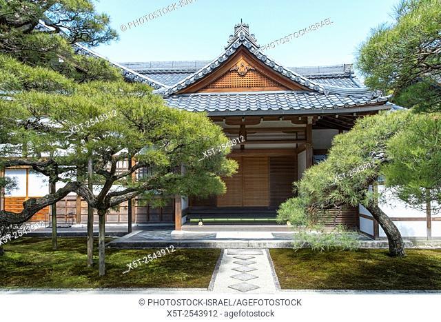 Japan, Kyoto, Ginkaku-ji (JishŠ. -ji or Temple of the Silver Pavilion) Zen Buddhist temple