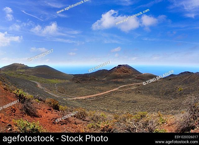 Teneguia volcano in La Palma Canary island