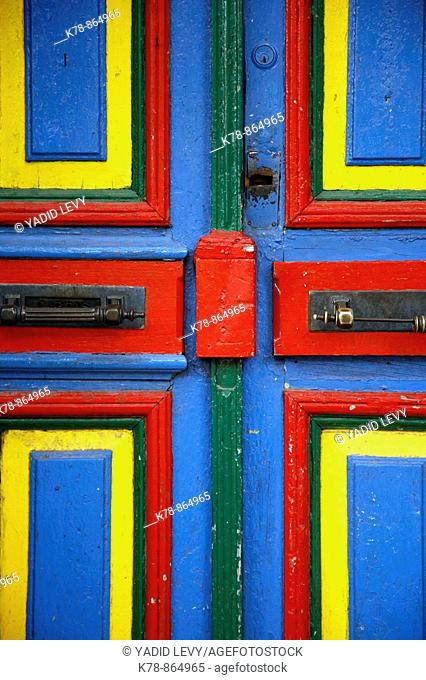 Colorful door on Caminito street in La boca  Buenos Aires, Argentina