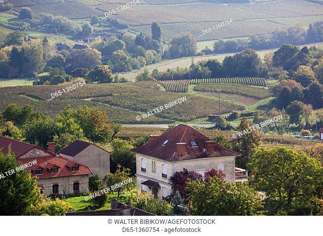 France, Marne, Champagne Region, Chatillon sur Marne, town overview