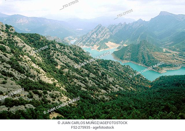 Landscape from the Santuari de Lord. Solsones. Lleida province. Cataluña. Spain