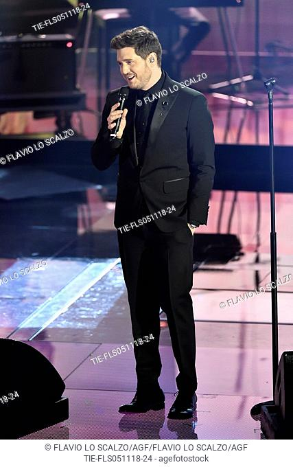 Michael Buble' The singer Michael Buble' during the tv show Che tempo che fa, Milan, ITALY-04-11-2018