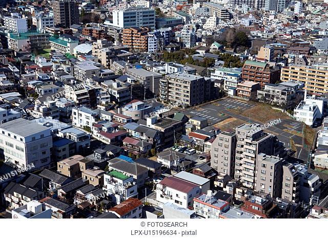 Aerial view of Bunkyo Ward