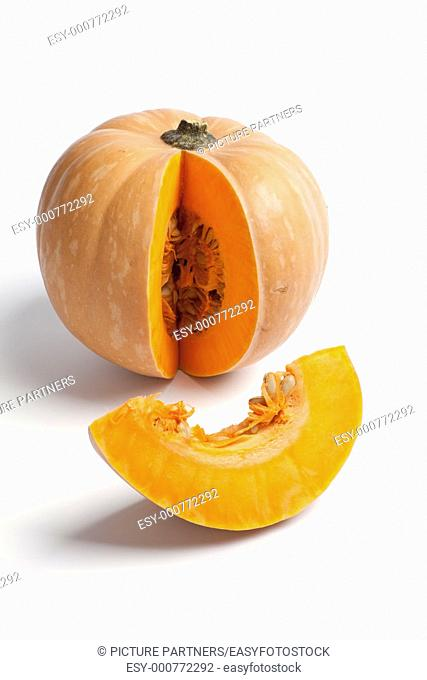 Pumpkin with a slice