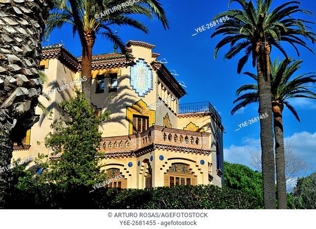 Bonet Hosue in Salou (Tarragona, Catalonia), Spain. Built by the modernist architect Domènec Sugrañes i Gras in 1918