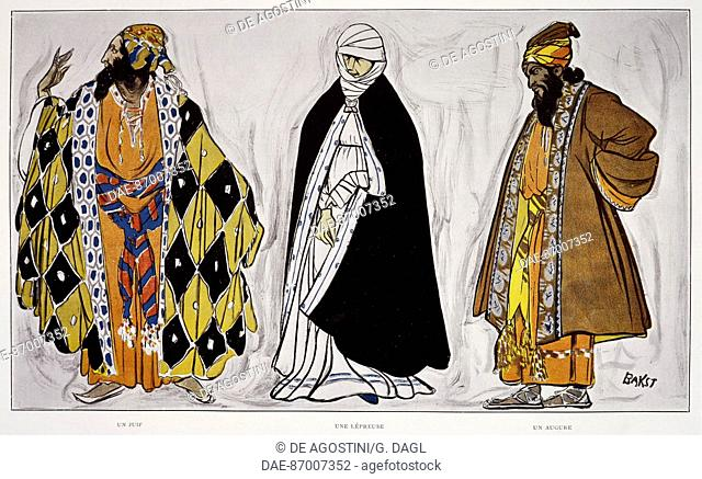 A jew, a leper and a priest, costumes by Leon Baskt (1866-1924) for The Martyrdom of St Sebastian, by Gabriele D'Annunzio (1863-1938) by Claude Debussy...