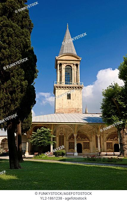 The Tower of Justice Adalet Kulesi originally constructed under Mehmed II and then renovated and enlarged by Suleiman I between 1527-1529