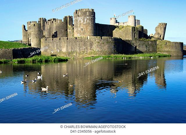 UK, Wales, Caerphilly Castle