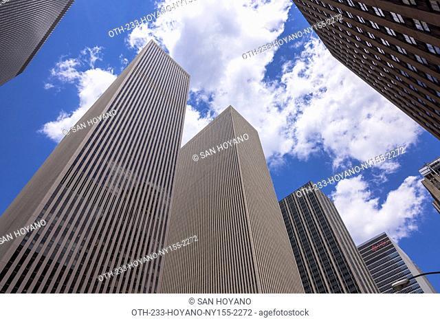 Skyscrapers on America Street, Midtown, New York, United States