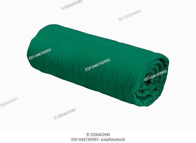 green fleece blanket roll