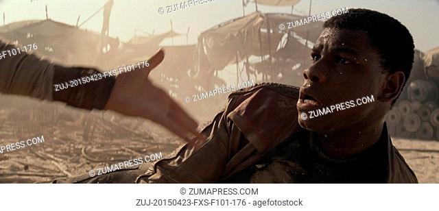 April 23, 2015 - Hollywood, USA - STAR WARS: EPISODE VII - THE FORCE AWAKENS (2015).JOHN BOYEGA.J.J. ABRAMS (DIR)