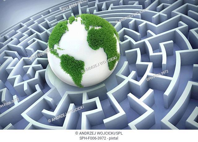 International cooperation, conceptual computer artwork