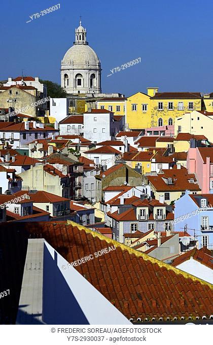 Portugal cityscape in the Alfama district