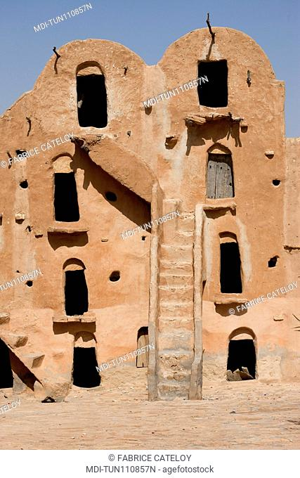 Tunisia - Ksar Ouled Soltane - Ksar used before to store goods for men and animals