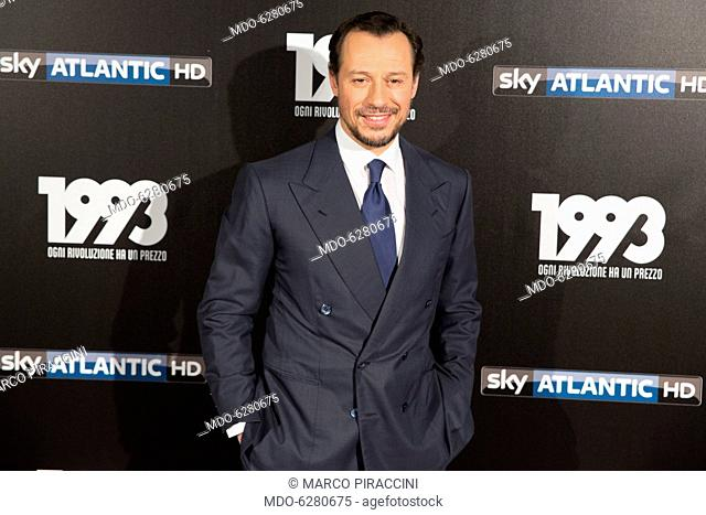 Italian actor Stefano Accorsi attends the tv fiction premiere 1993 by Sky Tv at Spacecinema Odeon. Milan, May 11th, 2017