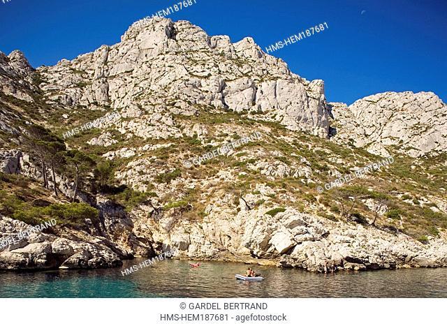 France, Bouches du Rhone, Marseille, calanque de Sormiou