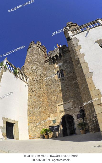 Palacio de los Duques de Feria, Castle of Zafra, Tourism Parador, Spanish Luxury Hotel, Zafra, Badajoz, Extremadura, Spain, Europe