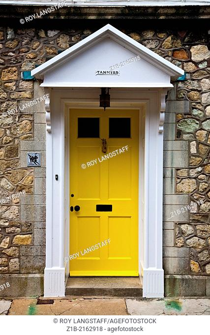 A door in the town of Yarmouth on the Isle of Wight in England