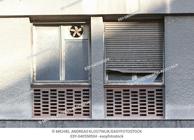 Shutters in an old apartment - Athens, Greece