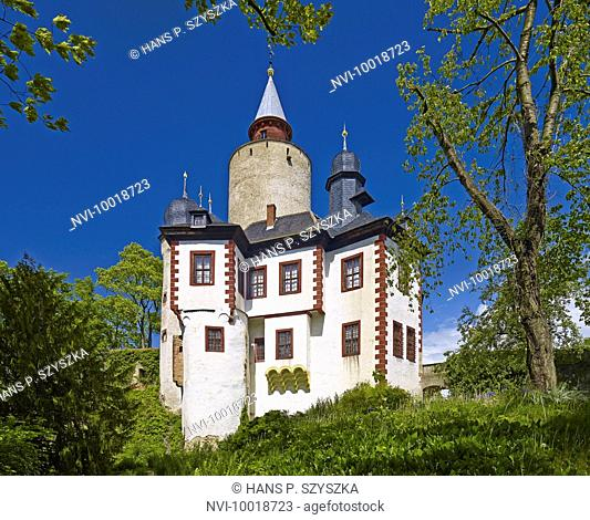 Castle Posterstein at Oberes Sprottental, Altenburger Land District, Thuringia, Germany, Europe