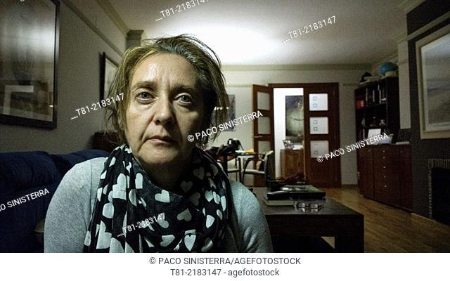 woman posing at home, Valencia, Valencia, Spain