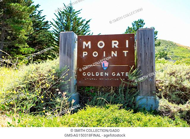 Signage at Mori Point, part of the Golden Gate National Recreation area, in Pacifica, California, June 20, 2017
