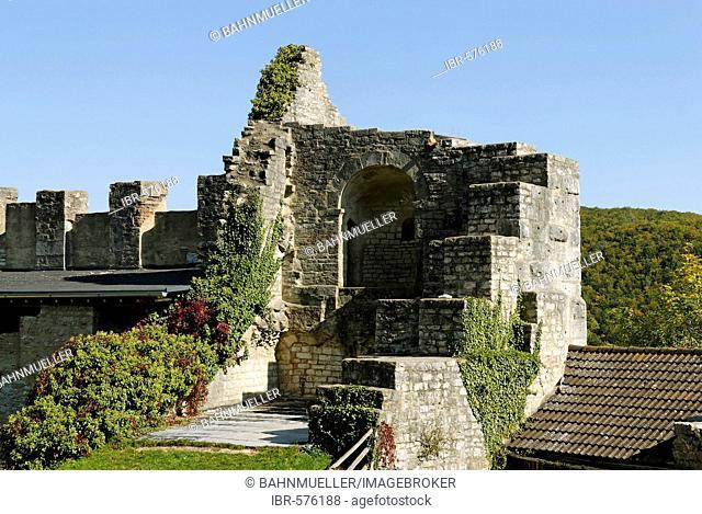 Ruins of Papenheim castle Altmuehltal Altmuehl valley Middle Franconia Bavaria Germany