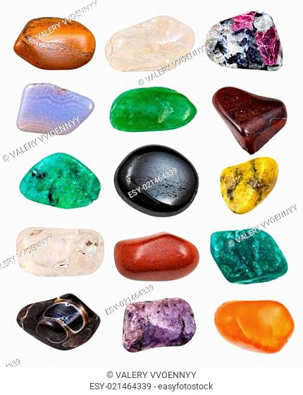 set of semi-precious stones