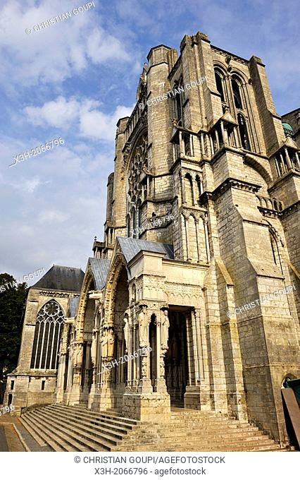 North Portal of the Cathedral of Our Lady of Chartres, Chartres, Eure & Loir department, region Centre, France, Europe