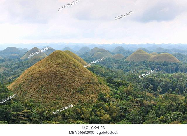 Chocolate hills, in Bohol, Philippines