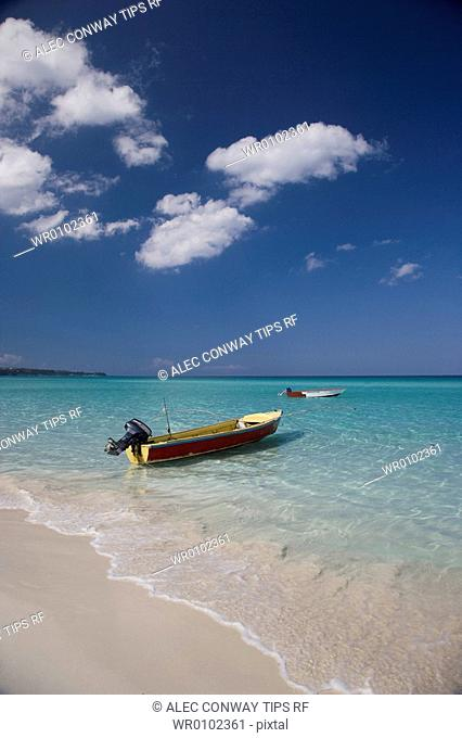 Caribbean, Jamaica, Negril,Local boats